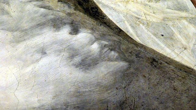 Descubierta una cara de demonio en un fresco de giotto for Cara pintada diablo