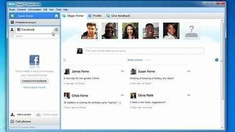 Skype permitirá a los usuarios realizar llamadas utilizando su perfil de Facebook