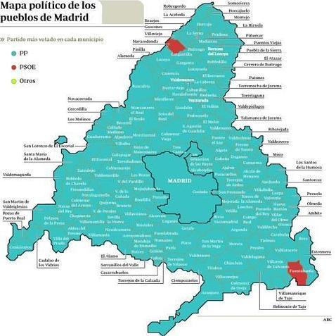 El PSOE desaparece del mapa  ABCes
