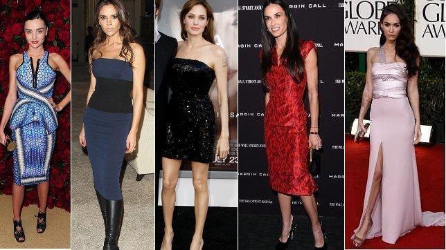Angelina Jolie, Demi Moore y Megan Fox: flacas en Hollywood