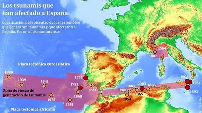 España, zona de alto riesgo de tsunamis