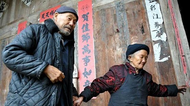 Un chino de 109 años y su esposa de 106, la pareja más longeva