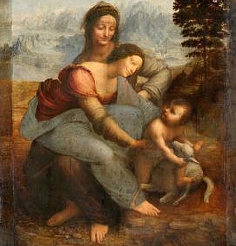 «La Virgen, el Niño Jesús y Santa Ana», de Leonardo (Museo del Louvre). ABC