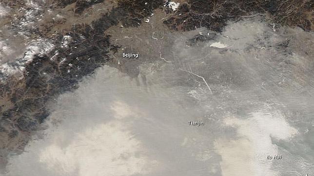La contaminación cubre el área de Pekín (Fuente: abc.es)
