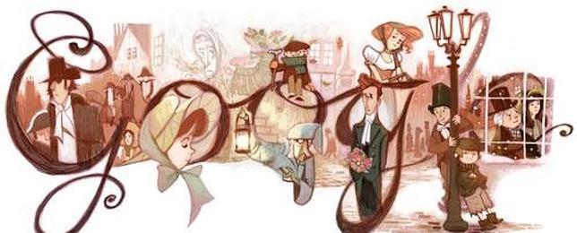 Google rinde homenaje a Charles Dickens con un «doodle»