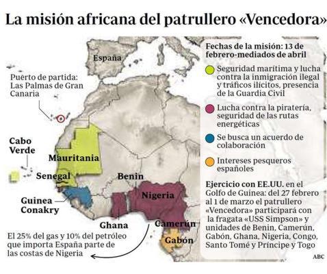 La Armada defenderá el interés energético de España en Nigeria
