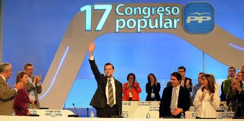 Rajoy saluda en el XVII Congreso Nacional del PP que se clausura hoy en Sevilla