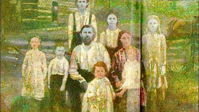La sorprendente familia de piel azul