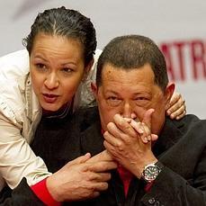 Chávez, con su hija