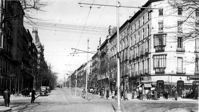 Vista de la calle serrano esquina con la de goya en 1924 - Calle serrano 55 madrid ...
