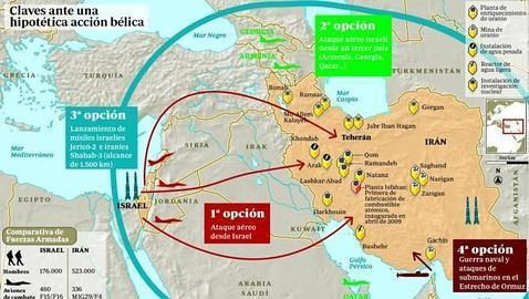 Así sería un ataque de Israel a Irán