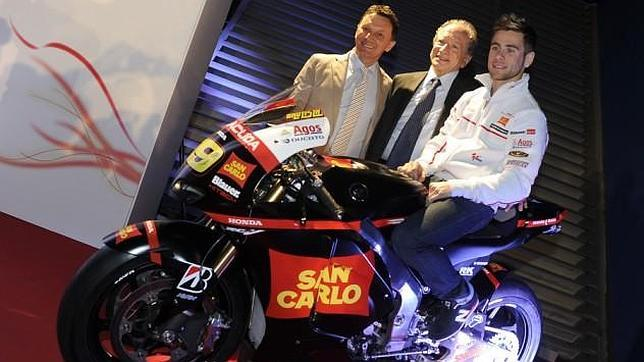 Honda Gresini se tiñe de negro en homenaje a Simoncelli