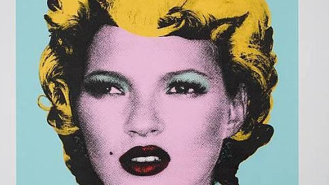 Banksy inmortalizó a Kate Moss como Warhol retrató a Marilyn Monroe. ABC