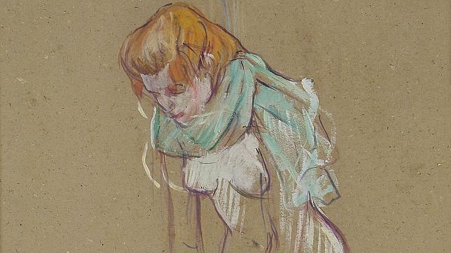 «Femme qui tire son bas», 1894. © COLLECTION MUSÉE TOULOUSE-LAUTREC, ALBI