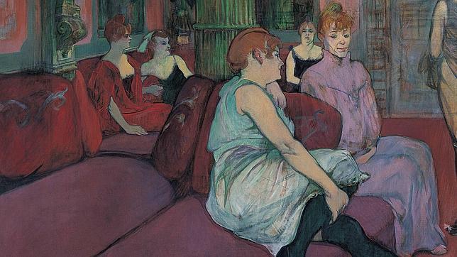 «Au salon de la rue des Moulins». © F. Pons, MUSÉE TOULOUSE-LAUTREC, ALBI