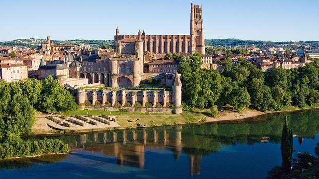Vista de la ciudad de Albi, con el Museo Toulouse-Lautrec en primer plano. © Mairie d'Albi, Tarn, France