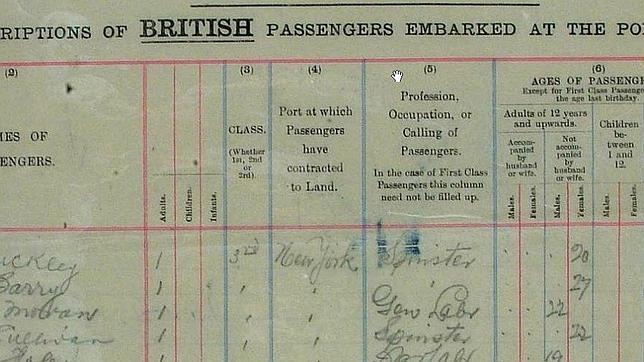 Fotos, listas de pasajeros y miembros de la tripulación del Titanic, en internet