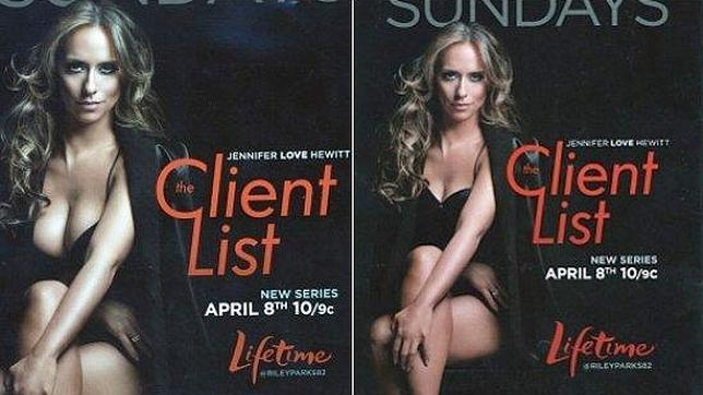 Jennifer Love Hewitt, censurada por lucir demasiado pecho en la serie «The Client List»