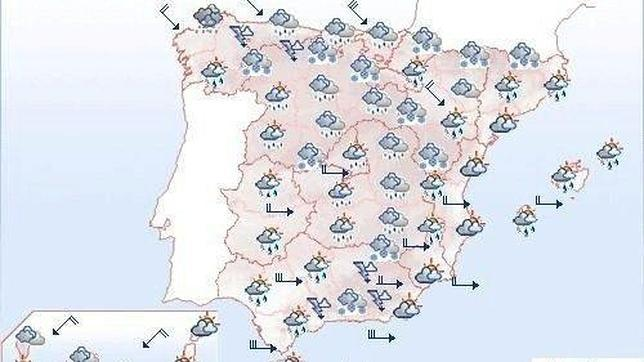 Mapa Del Tiempo España Fin De Semana.Fin De Semana De Lluvias Nevadas Y Viento Abc Es