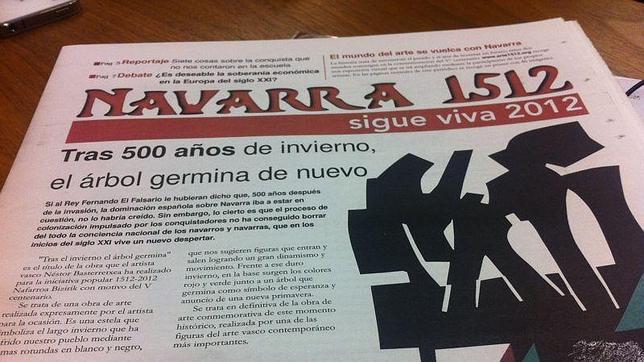 El diario sobre la «conquista de Navarra» que divulga la izquierda abertzale