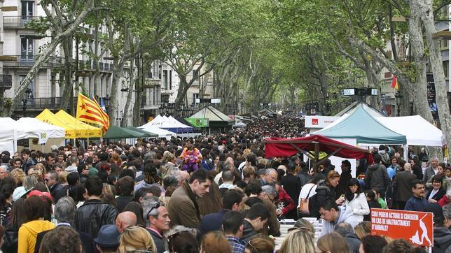 La venta de libros en Sant Jordi representa un 8% más que en 2011