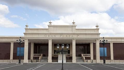 Entrada principal del nuevo centro comercial de Majadahonda