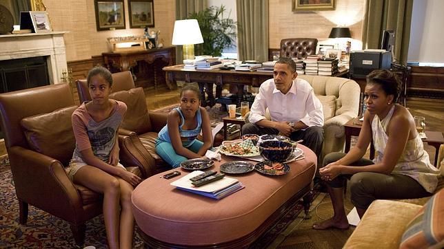 Michelle obama mis hijas prefieren quedarse a dormir - Fotos de la casa blanca por fuera ...