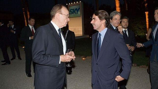 Aznar, emisario de Murdoch ante Cameron
