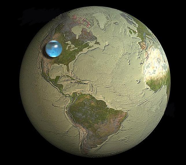 Toda el agua de la Tierra, en una esfera
