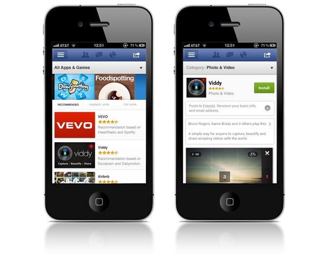 Facebook lanzará un centro de aplicaciones