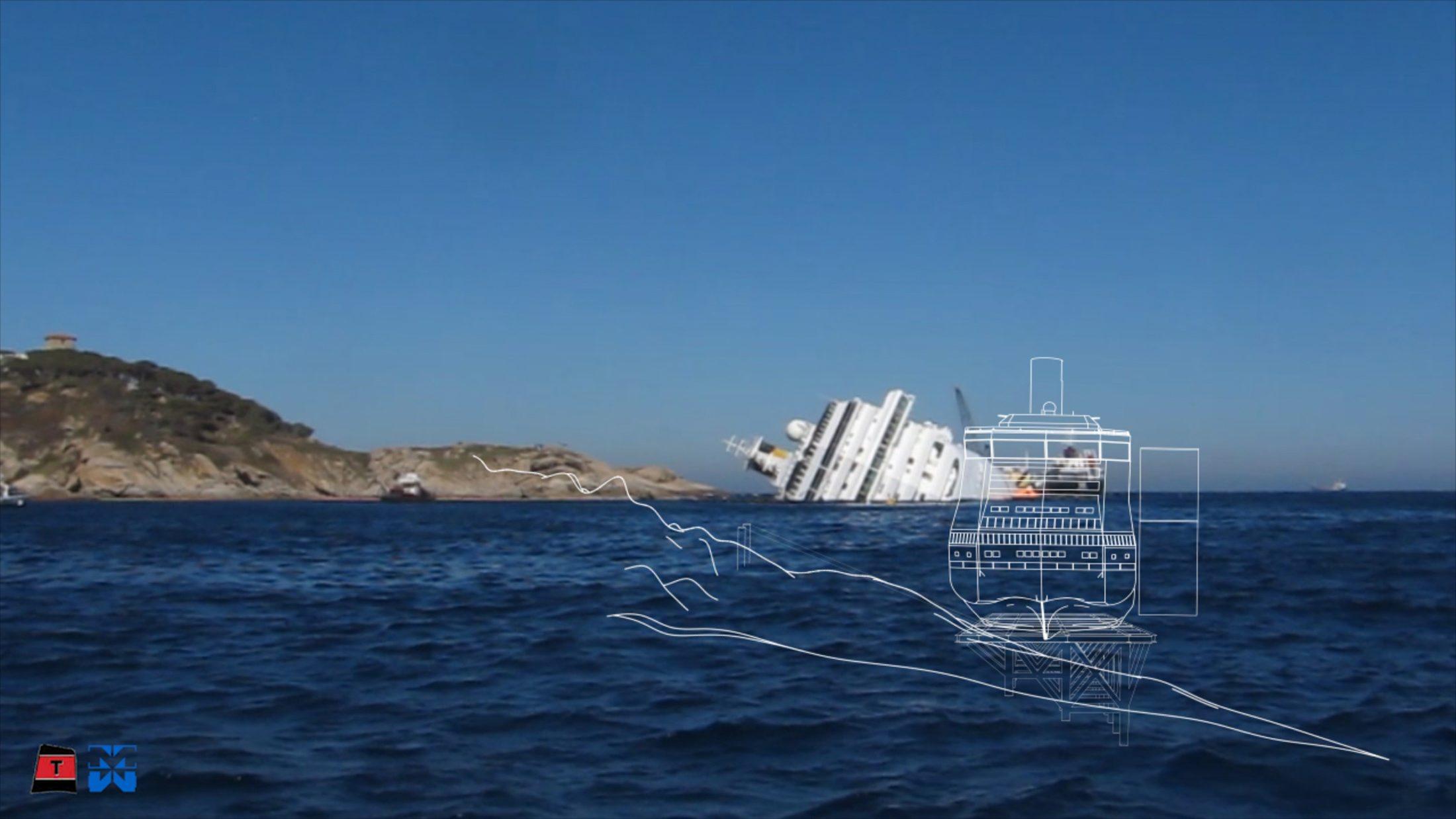 La «titánica» operación para reflotar el «Costa Concordia»