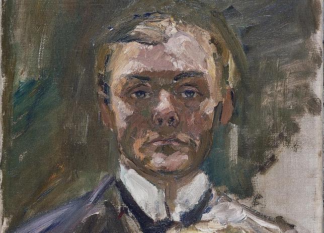 «Autorretrato con la mano levantada», Max Beckmann. MUSEO THYSEEN-BORNEMISZA