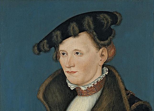 «Retrato de una mujer», Lucas Cranach, el Joven. MUSEO THYSEEN-BORNEMISZA