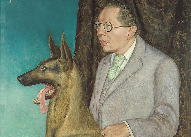 «Hugo Erfurth con perro», Otto Dix. MUSEO THYSEEN-BORNEMISZA