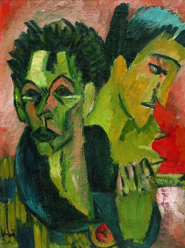 «Autorretrato con muchacha; retrato doble» (1914-1915). JÖRG P. ANDERS