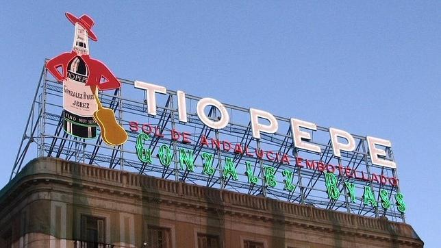 El cartel de t o pepe en el aire for Cartel tio pepe