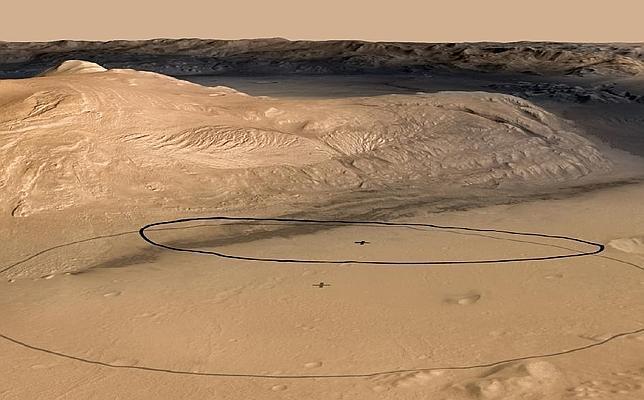 El Curiosity afina su puntería en Marte