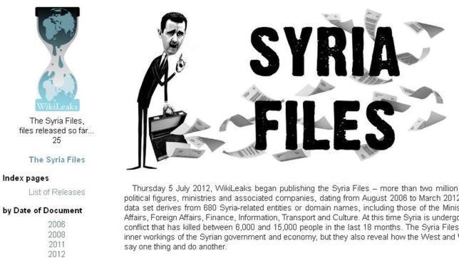 Wikileaks saca a la luz dos millones de correos electrónicos del régimen sirio