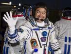 La nave rusa Soyuz despega con tres astronautas a bordo