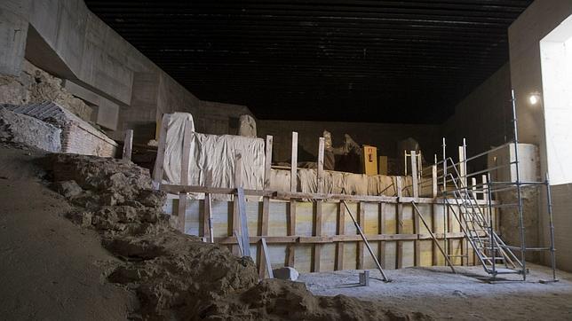 beln daz los restos y encontrados como la muralla rabe que las vigas de madera protegen tambin se expondr al pblico