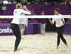 Voley playa, reclamo ol�mpico y visual en Londres