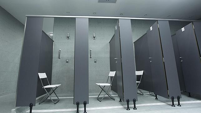 Este es el aspecto de las duchas de la casa de ba os de - Banos en madrid ...