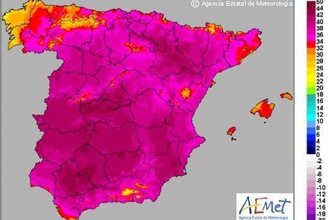 Calor de más de 40ºC en casi toda la Península a partir de mañana