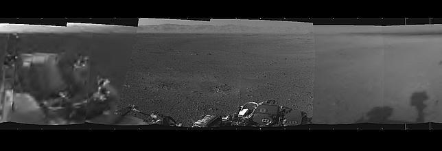 La primera foto panorámica del Curiosity
