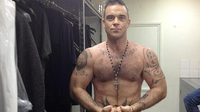 Robbie Williams luce los mismos m�sculos que Hulk