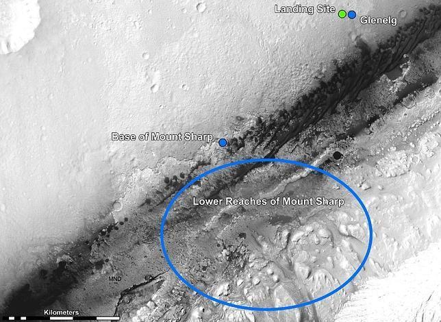 El Curiosity ya tiene su primer destino en Marte
