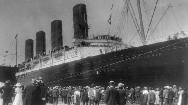 Resultado de imagen de hundimiento del lusitania