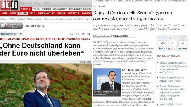 La entrevista de Mariano Rajoy en el resto de medios europeos
