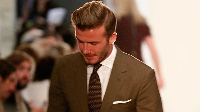 Así viste David Beckham para el «front row» de la New York Fashion Week