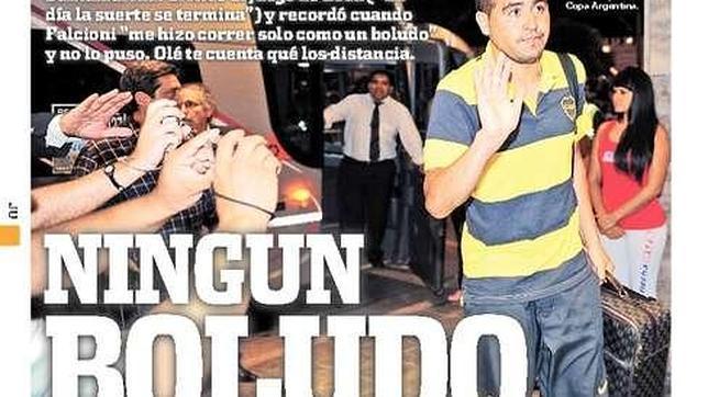 Portada del periódico deportivo argentino «Olé»